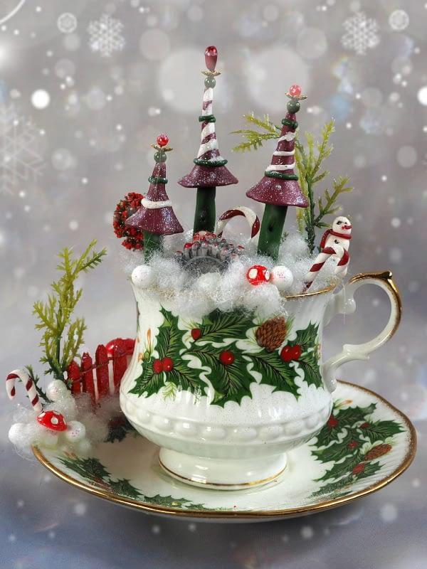 Kerst theekasteel